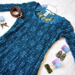 Max Studio Teal Lace Dress